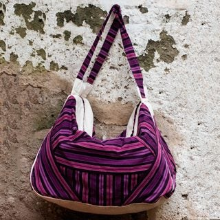 Handcrafted Cotton 'Comalapa' Hobo Bag (Guatemala)