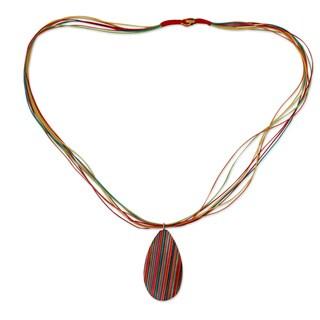 Handcrafted Indian Elm Wood 'Celebration' Necklace (India)