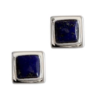 Sterling Silver 'Hindu Galaxy' Lapis Lazuli Earrings (India)
