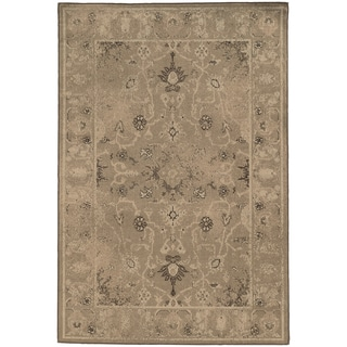 Weathered Traditional Tan/ Brown Rug (6'7 x 9'6)