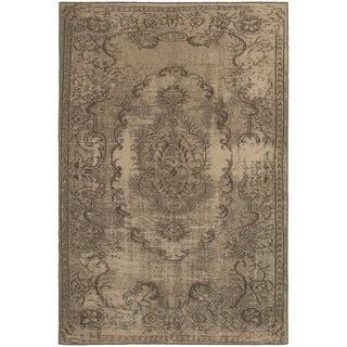 Shabby Chic Oriental Tan/ Brown Rug (5'3 x 7'6)