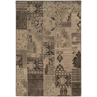 Mixed Persian Brown/ Tan Rug (5'3 x 7'6)