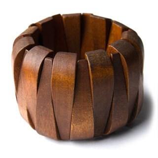 Brown Wood Stretch Bracelet (China)