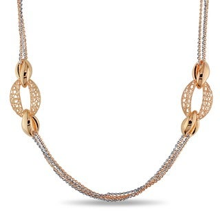 Miadora 18k Two-tone Gold Link Necklace