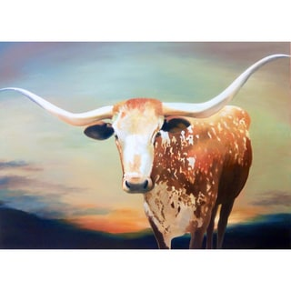 'Everything's Bigger in Texas' Canvas Oil Painting