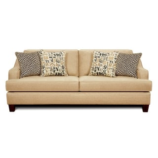 Furniture of America Kiamet Transitional Style Tan Sofa