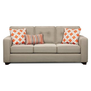 Furniture of America Dollee Contemporary Beige Sofa