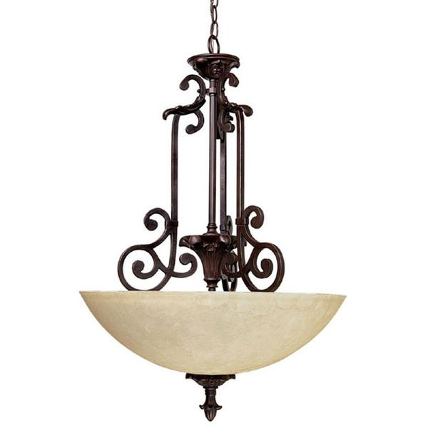 Capital Lighting Mediterranean Collection 3-light Mediterranean Bronze Pendant