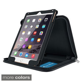rooCASE Executive Portfolio Leather Case with Smart Cover for Apple iPad Air 2