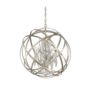 Capital Lighting Axis Collection 4-light Painted Winter Gold Pendant with Crystal