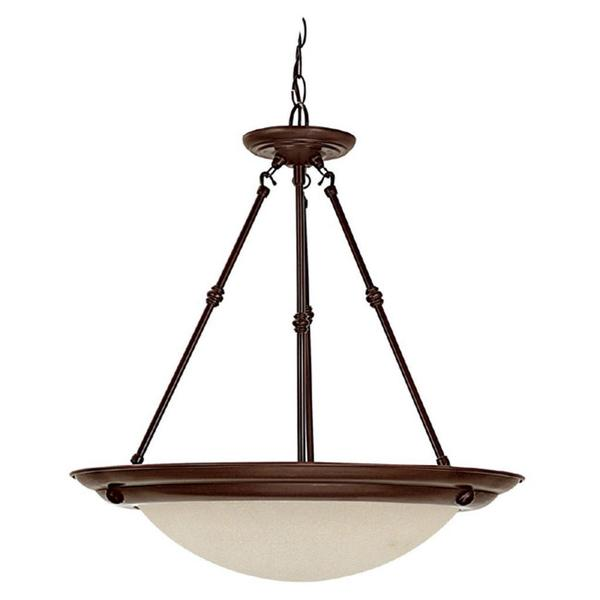 Capital Lighting Transitional 3-light Burnished Bronze Energy Saver Pendant