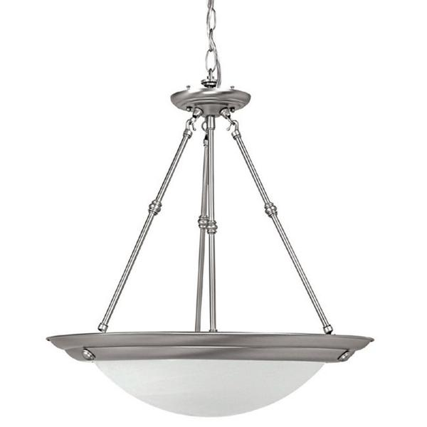 Capital Lighting Transitional 3-light Matte Nickel Energy Saver Pendant