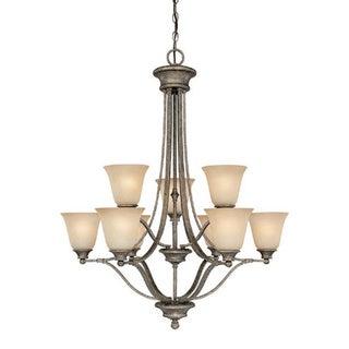 Capital Lighting Belmont Collection 9-light Creek Stone Chandelier
