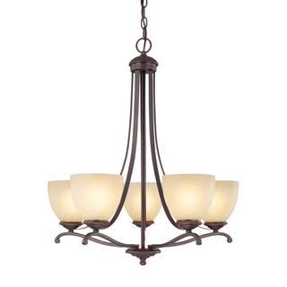 Capital Lighting Chapman Collection 5-light Burnished Bronze Chandelier