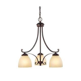 Capital Lighting Chapman Collection 3-light Burnished Bronze Chandelier