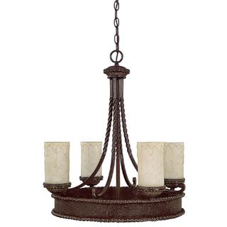 Capital Lighting Highlands Collection 4-light Weathered Brown Chandelier
