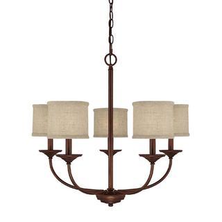 Capital Lighting Loft Collection 5-light Burnished Bronze Chandelier