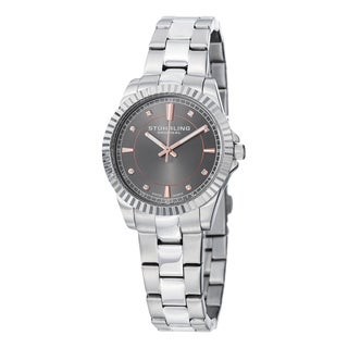 Stuhrling Original Women's Swiss Quartz Crystal Stainless Steel Bracelet Watch