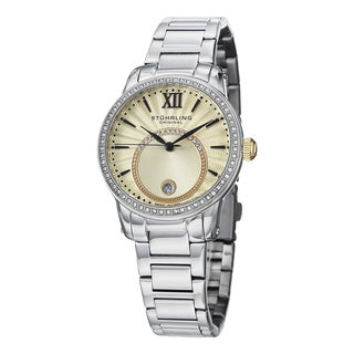 Stuhrling OriginalWomen's Symphony Swiss Quartz Crystal Stainless Steel Bracelet Watch