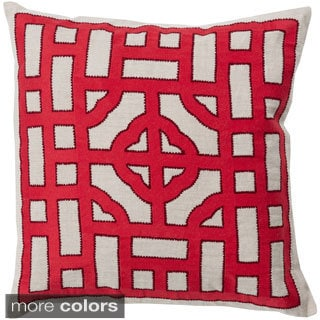Decorative Felder 20-inch Down or Poly Filled Throw Pillow