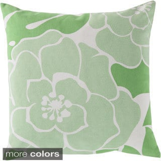 Decorative Bennett 20-inch Down or Poly Filled Throw Pillow