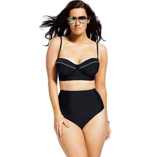 Swim Sexy Women's Moonlight Plus Size High Waist Bottom