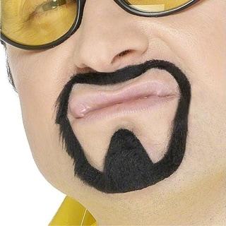 Black Goatee Mens Fake Beard Mustache Facial Hair Kenny Powers