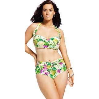 Swim Sexy Women's Carmen Miranda Plus Size Twist Front Bikini Bottom