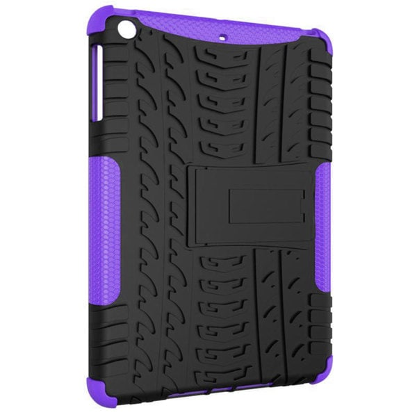 rooCASE Heavy Duty Trac Armor Hybrid Dual-layer Case with Kickstand for Apple iPad Mini