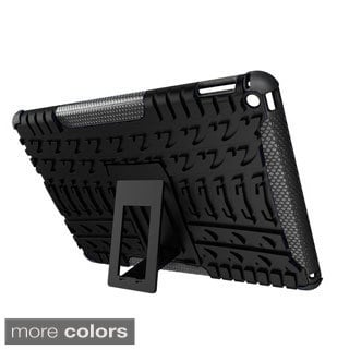 rooCASE Heavy Duty Trac Armor Hybrid Dual-layer Case with Kickstand for Apple iPad Air 2