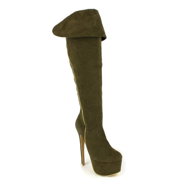 Fahrenheit Women's Padma Platform Over-the-Knee Boots