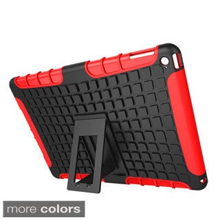 rooCASE Heavy Duty Blok Armor Hybrid Dual-layer Case with Kickstand for Apple iPad Air 2