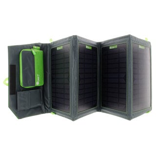 GearIT 20-watt Portable Folding Outdoor Solar Panel USB Device Charger