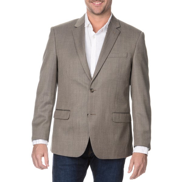 Prontomoda Elite Men's Tan Rich Wool Blazer