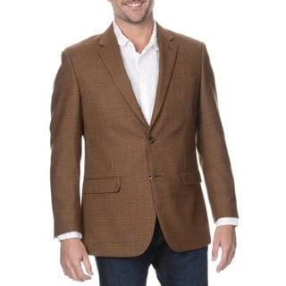 Prontomoda Elite Men's Coffee Rich Wool Blazer