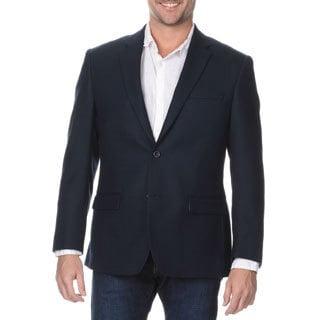Prontomoda Elite Men's Navy Rich Wool Blazer