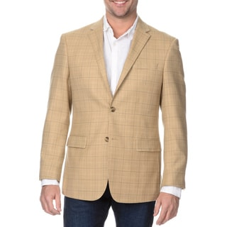 Prontomoda Europa Men's Tan Lamb Wool Sportcoat