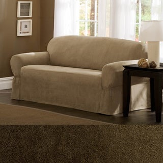 Maytex Faux Suede 1-piece Sofa or Loveseat Slipcover