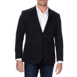Via Toro Men's Navy Comfort Knit Sportcoat