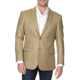 Prontomoda Europa Men's Tan Silk/ Wool Blazer