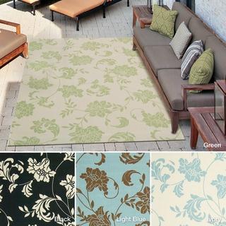 Rug Squared Palmetto Floral Indoor/Outdoor Area Rug (5'3 x 7'5)