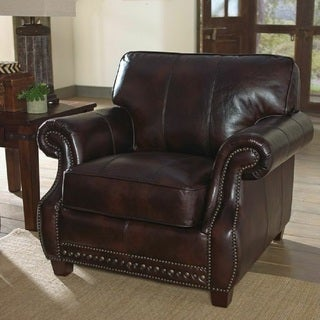 Anna Leather Chair by Lazzaro Leather