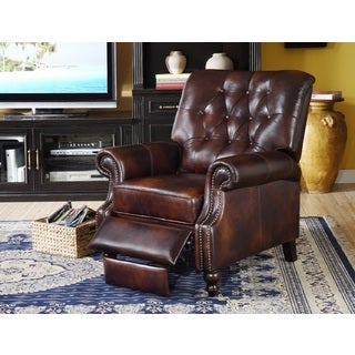 Philip Brown Leather Cowhide Recliner