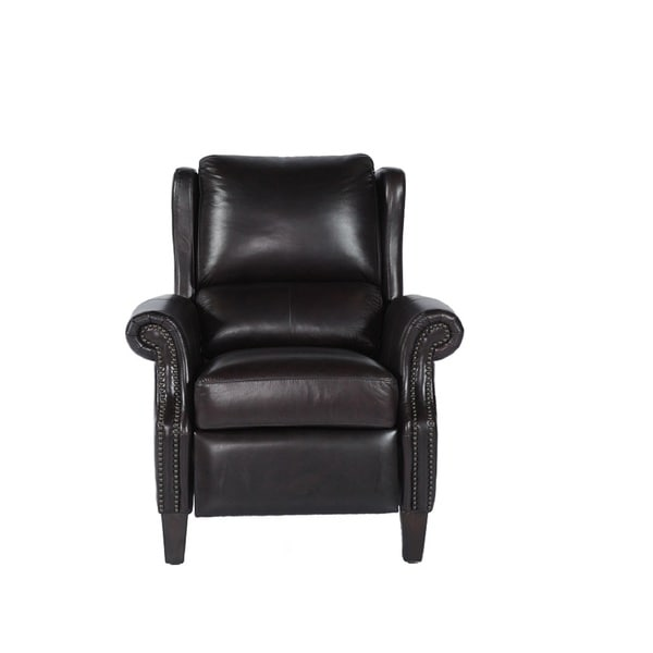 Peter Burgundy Leather Cowhide Recliner
