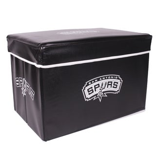 NBA Storage Ottoman with Lid and Offical Team Logo of San Antonio Spurs