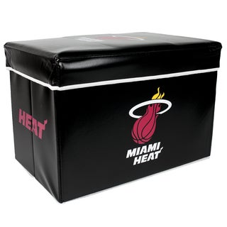 Offical NBA Miami Heat Team Logo Storage Ottoman with Lid