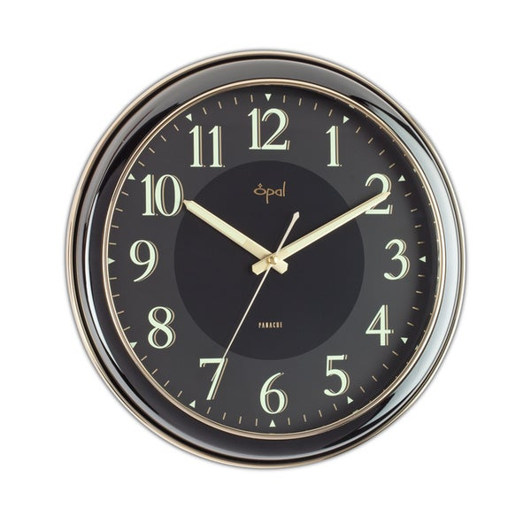 Opal 14-inch Black High Shine Clock