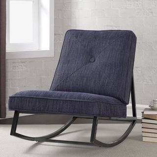Metal Frame Rocker Indigo Linen with Shieldkleen