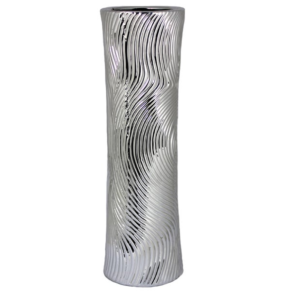 Essential Silver Ceramic Vase