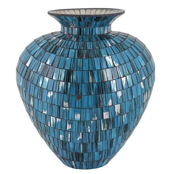 Essential Blue Mosaic Vase